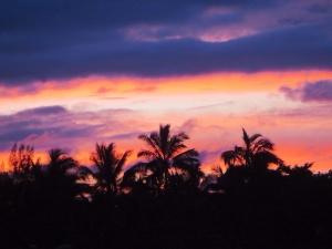Sunset devant chez nous