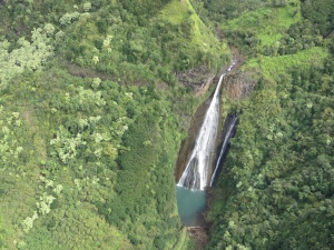 The falls seen in Jurassic Park