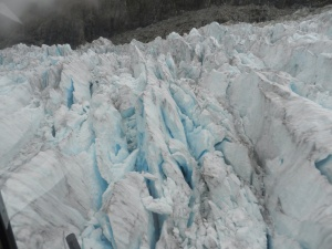 Fox Glacier crevasses making art