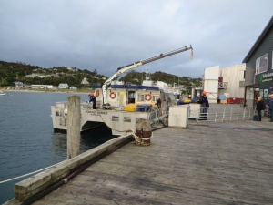 Loading the ferry