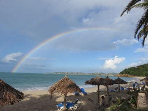 Rainbow at Coconut Bay