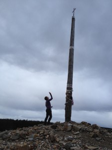 Margaret at Cruz de Ferro