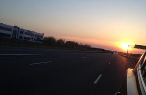 Sunset on QEW